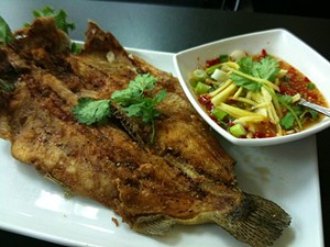 Fried whole trout with fish sauce and black pepper: Worth the calorie splurge. - ISHERMAN/FLICKR