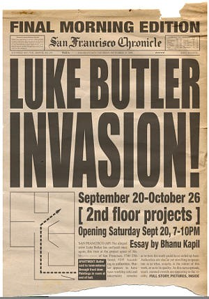 From a [ 2nd floor projects ] show featuring the works of Luke Butler - LUKE BUTLER