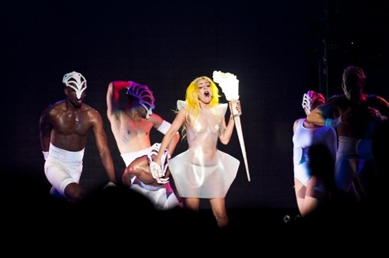 Gaga at Oracle last night - RICHARD HAICK