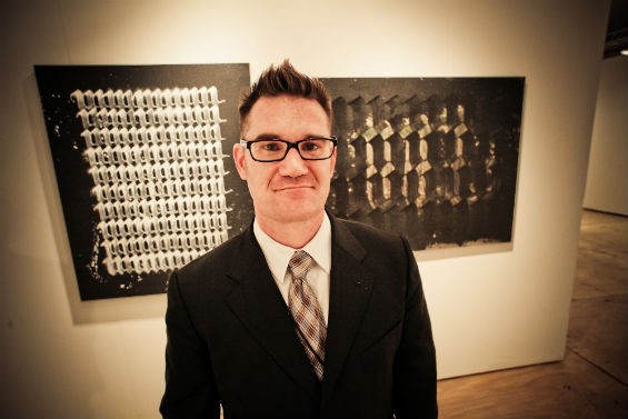 Gallery owner Justin Giarla. Photo by Michael Cuffe.