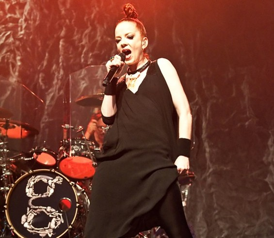 Garbage at the Warfield last night. - SUGARWOLF
