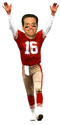 Gavin Newsom's fantasy team went a little Niners heavy... - JUSTIN PAGE