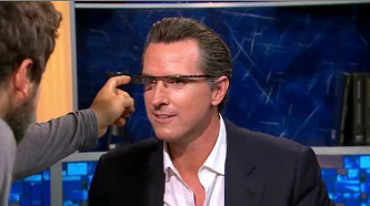 Gavin promoting another glamorous product innovation - THE GAVIN NEWSOM SHOW
