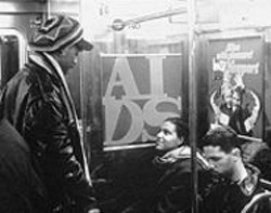 General Ideas 1989 public poster project, here on the New York subway, showed the ubiquity of the AIDS epidemic.
