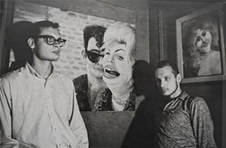 INDIEPIX - George and Mike with their paintings, circa 1965