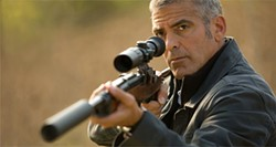 George Clooney plays a conflicted action hero.