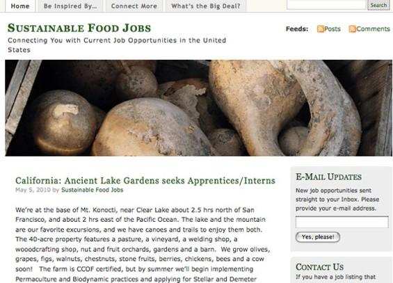 Get paid, eco-foodies! - SUSTAINABLEFOODJOBS.WORDPRESS.COM