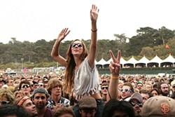 CHRISTOPHER VICTORIO - Getting down at Outside Lands.