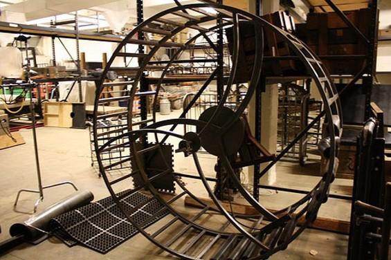 Giant Hamster Wheel for Bondage.