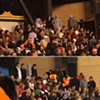 Woman Detained for Protesting Fake Headdress at Giants Game