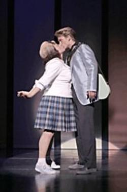 CHRIS  BENNION - Girl Trouble: Tracy (Keala Settle) falls for - Link (Austin Miller).
