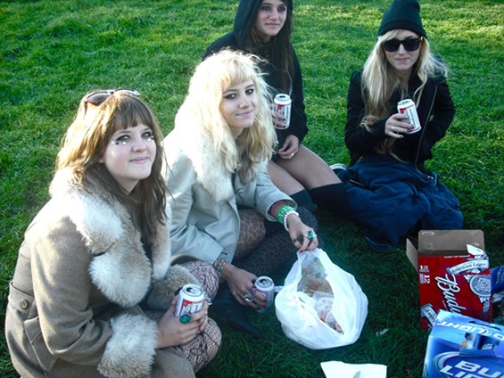 Girls and their eye-bling, in Dolores Park - ALEXIA TSOTSIS