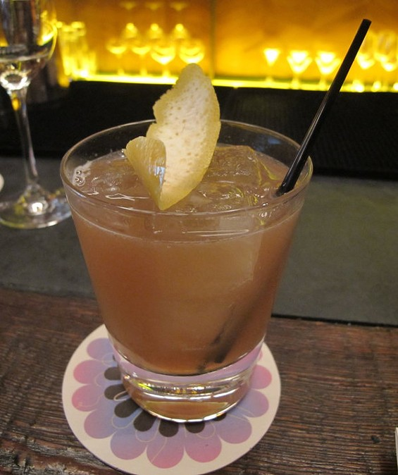 Gitane's Los Muertos, $10, which incorporates elements of the Paloma with those of a margarita. - LOU BUSTAMANTE