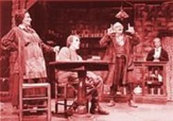 DAVID  ALLEN - Gleeful Savagery: Phoebe Moyer, Travis Engle, Edward Sarafian, and Elizabeth Benedict in The Cripple  of Inishmaan.