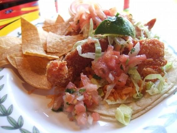 Golden (brown) standard: Fish tacos at El Metate. - IRMA E./YELP