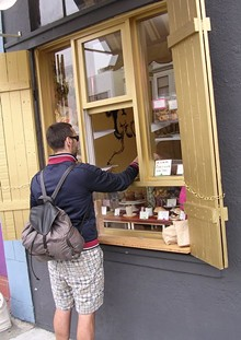 Goody Goodie's walk-up window on Folsom. - JOHN BIRDSALL
