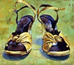 "Gordon Smedt's yellow shoes at - ""Favorite Things."""