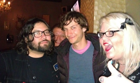 Gotye the quiz whiz (center) and his new S.F. friends.