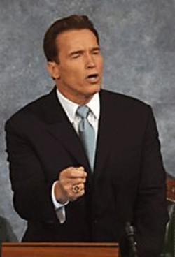 "COURTESY OF AP WIDE WORLD - Gov. Arnold Schwarzenegger: ""Platinum-plated"" - pensions have got to go."
