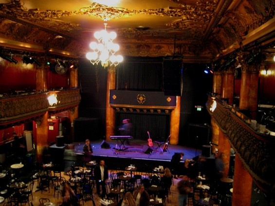 Great American Music Hall becomes a restaurant for one night only on August 21. - GREAT AMERICAN MUSIC HALL