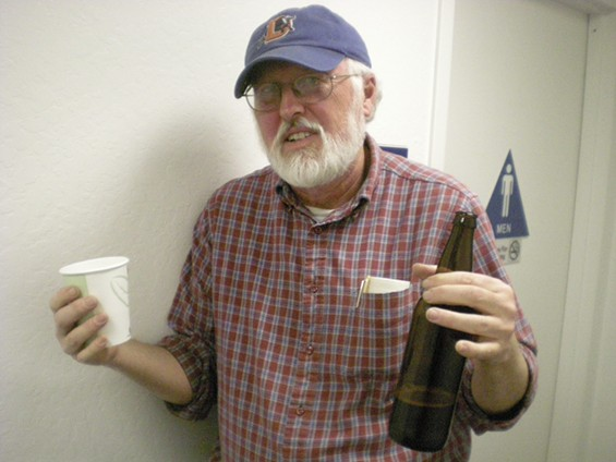 Green Party state co-chair Barry Hermanson brought his own beer -- literally - JOE ESKENAZI