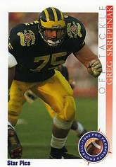 Greg Skrepenak, during happier days at Michigan