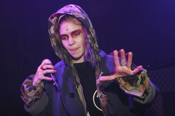 Grimes at Rickshaw Stop last night. - CHRISTOPHER VICTORIO