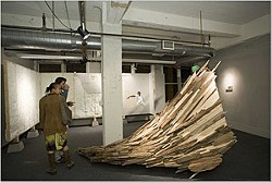 COURTESY OF GEN ART - Guests check out artist Caleb Duarte's work at Gen Art's Emerge event in 2006.