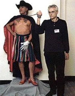 MANUEL  VASON - Guillermo Gmez-Pea's British Curator - & Specimen (with Brian Biggs).