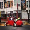 Guy In Hot Rod Gives Luigi Pinata A Ride Through the Mission