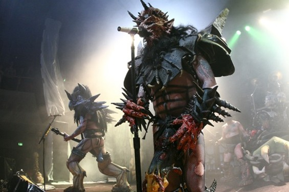 Gwar at the Regency Friday night. - CHRISTOPHER VICTORIO