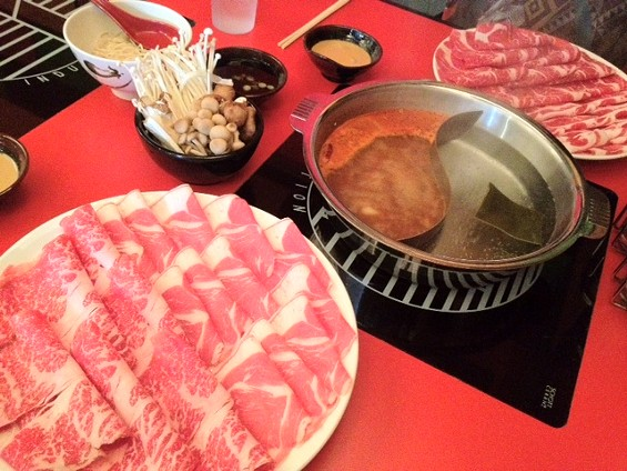 Half and half hot pot at Shabuway. - TAMARA PALMER