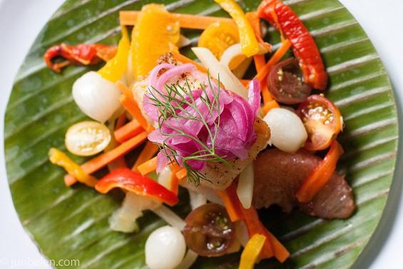 Halibut escabeche from hotel and restaurant consultant Edgar Grajo. - JUN BELEN