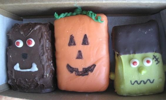 Halloween brownie bites from Baked, three for $7.50. - JONATHAN KAUFFMAN