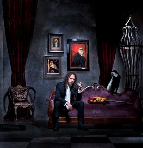 Hammett at La Casa Kirk, hanging out with Bela Lugosi.