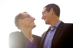 NORMA CORDOVA - Hank Donat (left) and Jeffrey Halpern, married in 2008, - found themselves on the front - page of the New York Times.