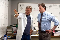Harrison Ford (left, with Brendan Fraser in Extraordinary Measures) says he makes films to give audiences a satisfying entertainment experience.