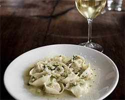 JEN SISKA - Hats off to the cappelletti pasta in a silky butter sauce.