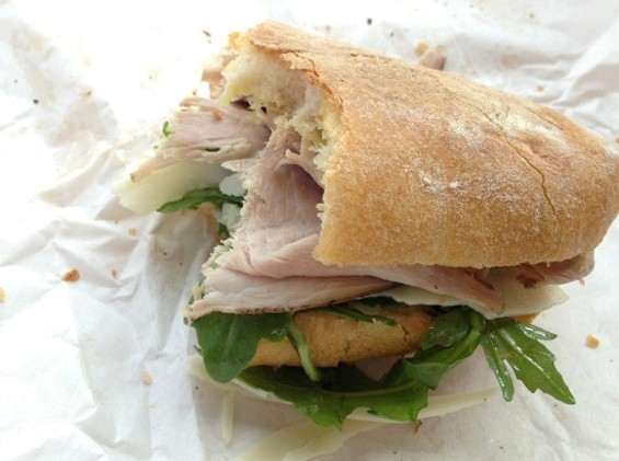 Hazelnut-finished pork in a sub at Tails & Trotters is a good example of PDX's democratic approach to food.. - JOHN BIRDSALL