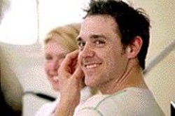 He may be smiling, but trust us, Wilbur - (Jamie Sives) ain't a happy boy.