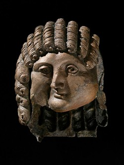 COURTESY OF DEPARTMENT OF ARCHAEOLOGY MUSEUM, KING SAUD UNIVERSITY, RIYADH - Head of a Man shows the European influence on Arabia.