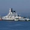 "U.S.S. <i>Iowa</i> Sails Out of Bay on ""Last Mission"" (Photos)"