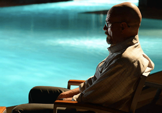 Heisenberg, poolside. - PHOTO COURTESY OF AMC.