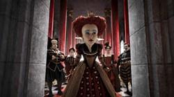 Helen Bonham Carter as the Red Queen.