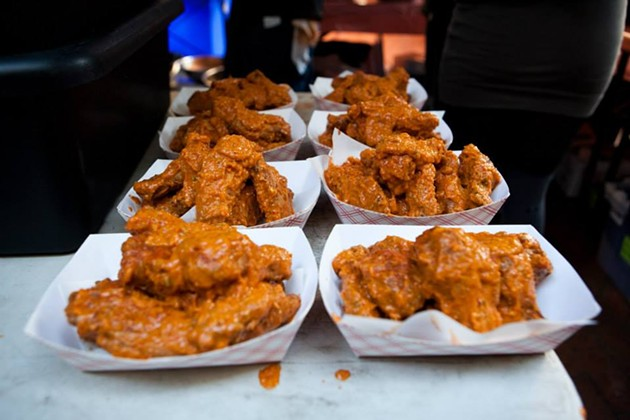 Hella hella hot wings lined up at last year's competition. - FACEBOOK/WING WINGS