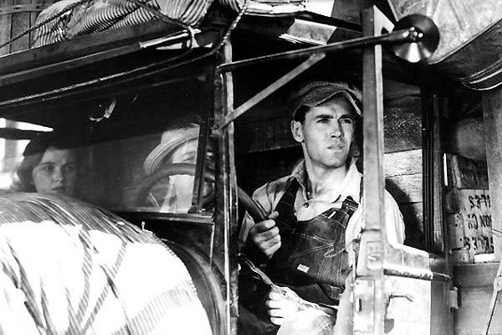 "Henry Fonda in his Academy Award nominated performance as Tom Joad in the 1940 film version of ""The Grapes of Wrath"" - 20TH CENTURY FOX"
