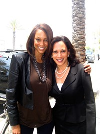Here's betting Kamala Harris doesn't tab Tyra Banks to succeed her. But you never know.