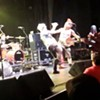 Here's Fat Mike From NOFX Kicking a Fan in the Face in Sydney Last Night