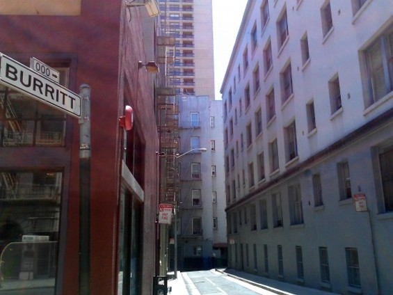 Here's lies a small plaque to an iconic film noir spot. - JUAN DE ANDA/SF WEEKLY