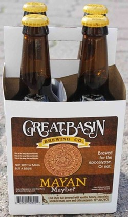 Here's your Mayan chaser - JAZZ ALDRICH/GREAT BASIN BREWING COMPANY